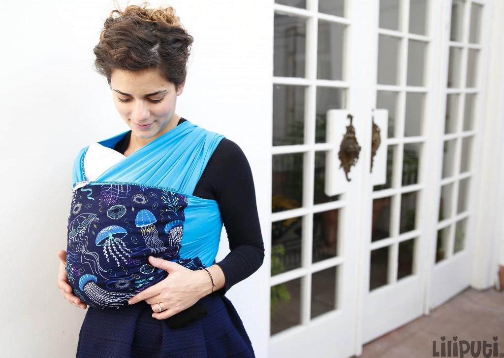 Liliputi rugalmas hordozókendő - Deep Blue